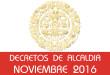 Decretos de Alcaldía - Noviembre 2016