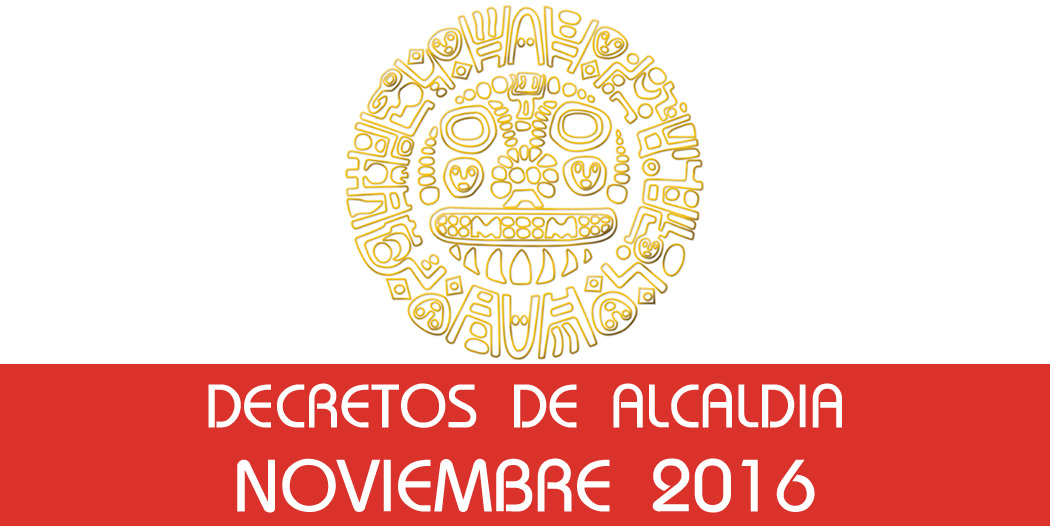 Resoluciones de Alcaldía – Noviembre 2016