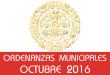 Ordenanzas Municipales - Octubre 2016