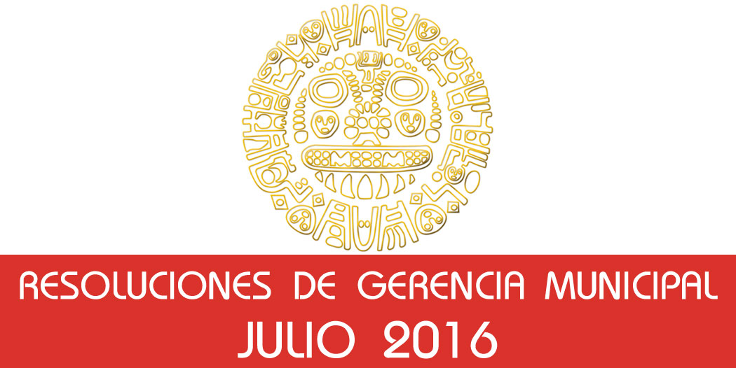 Resoluciones – Julio 2016
