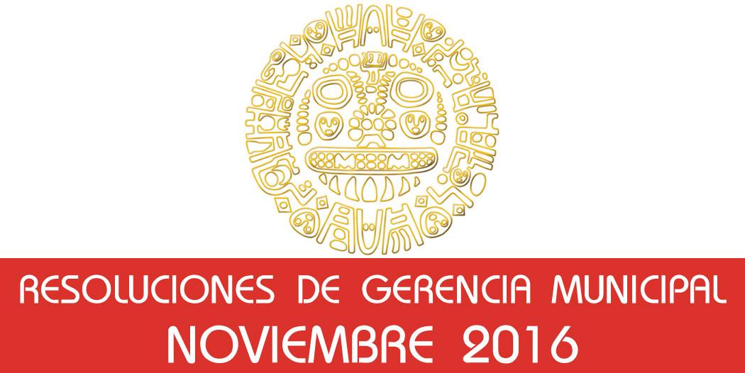 Resoluciones – Noviembre 2016
