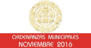 Ordenanzas Municipales - Noviembre 2016