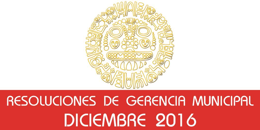Resoluciones – Diciembre 2016
