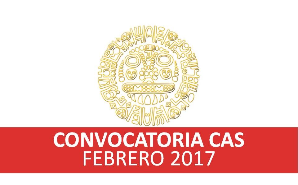 Convocatorias CAS – FEBRERO 2017
