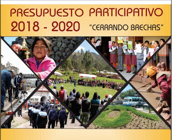 """Presupuesto Participativo Multianual 2018 – 2020 """"Cerrando Brechas"""""""