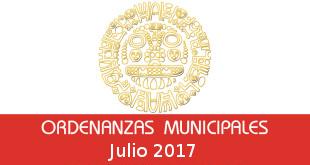 Ordenanzas Municipales – Julio 2017