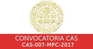 Convocatorias CAS-007-MPC-2017