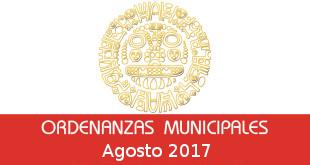 Ordenanzas Municipales – Agosto 2017
