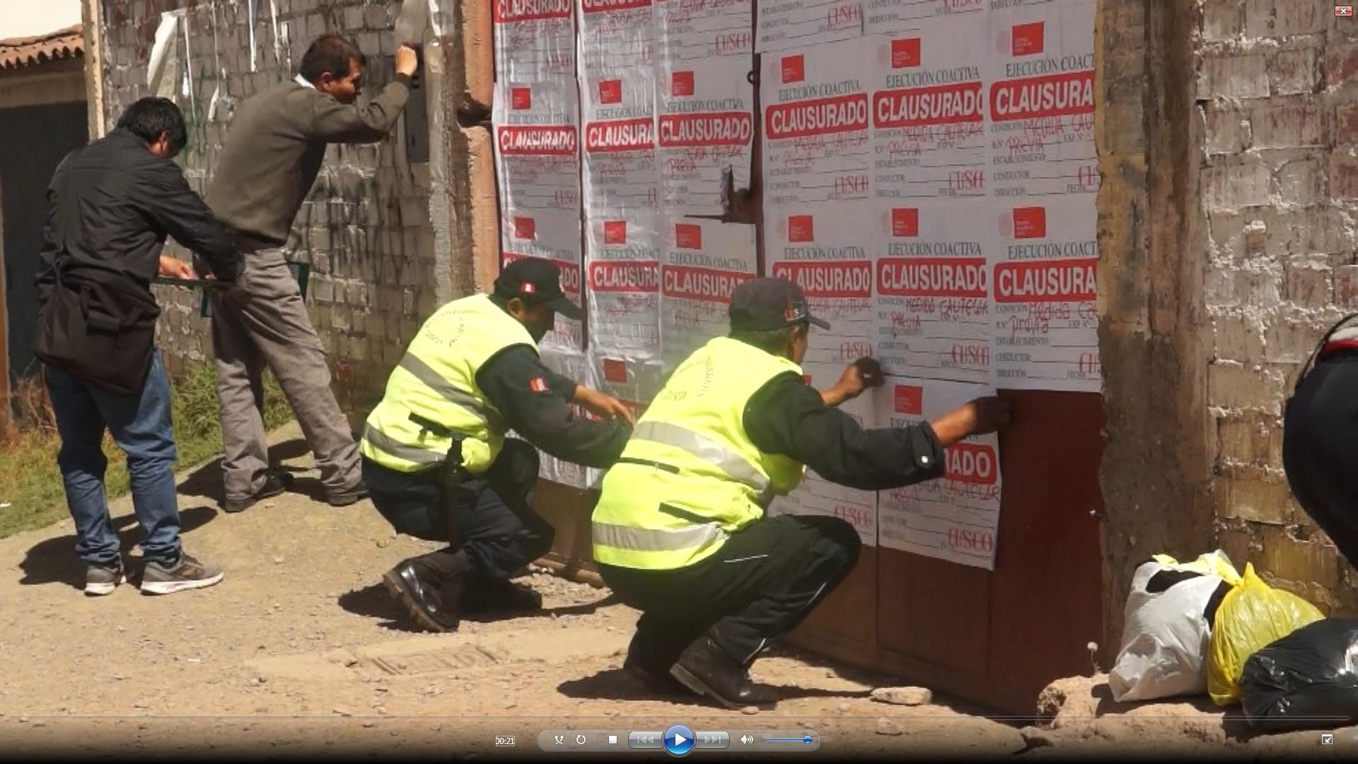 """MUNICIPALIDAD DEL CUSCO CLAUSURO EL ESTABLECIMIENTO – """"DEPORCENTRO"""" DE LA AV. COLLASUYO."""