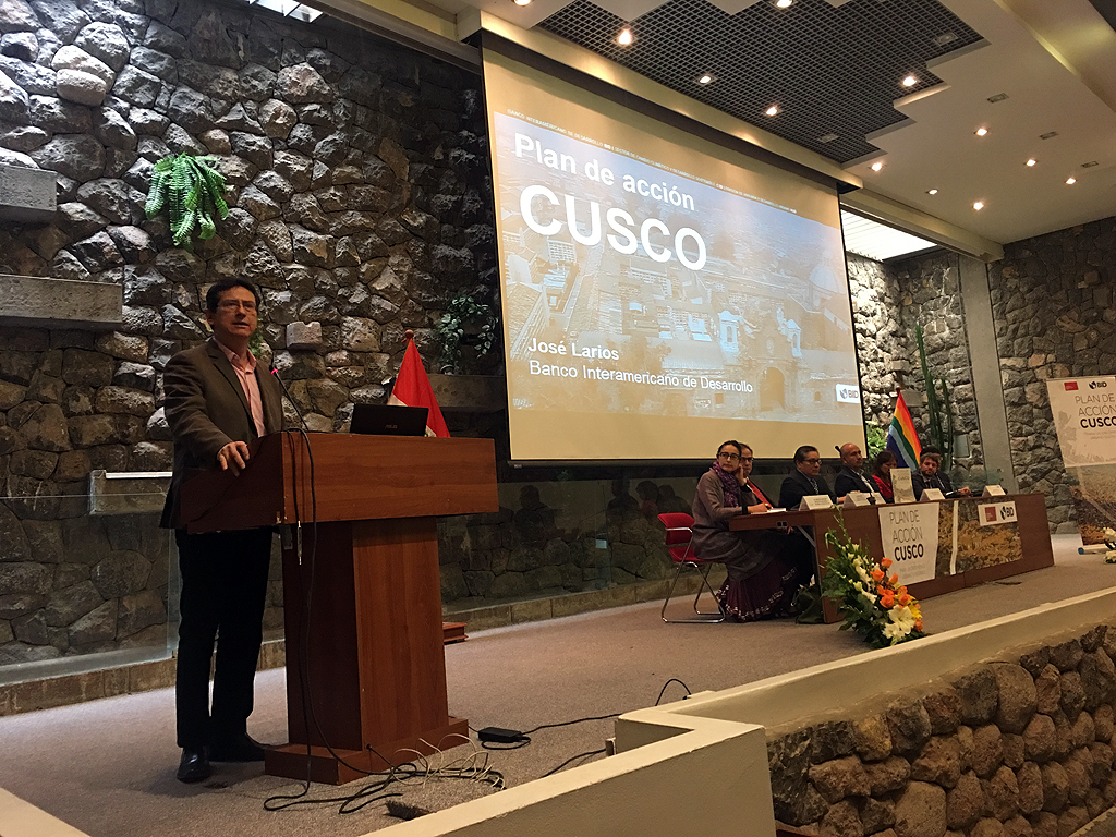 """MUNICIPALIDAD DE CUSCO Y EL BID PRESENTARON EL """"PLAN DE ACCIÓN CUSCO, PARA UN CRECIMIENTO URBANO SOSTENIBLE""""."""
