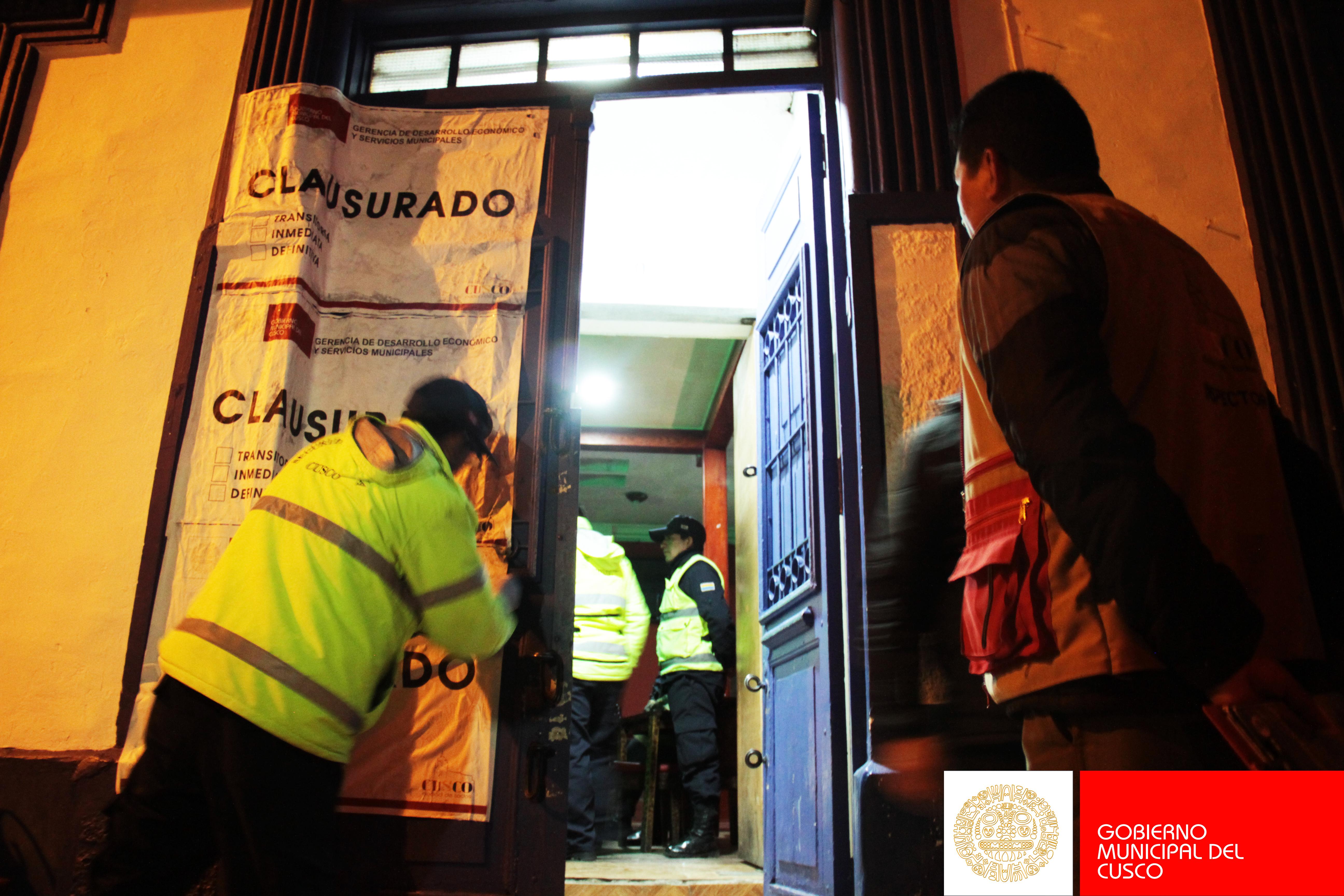 """CLAUSURA DE  DISCOTECA  """"EL VIRREY"""" EN EL  CENTRO  HISTÓRICO DEL CUSCO"""