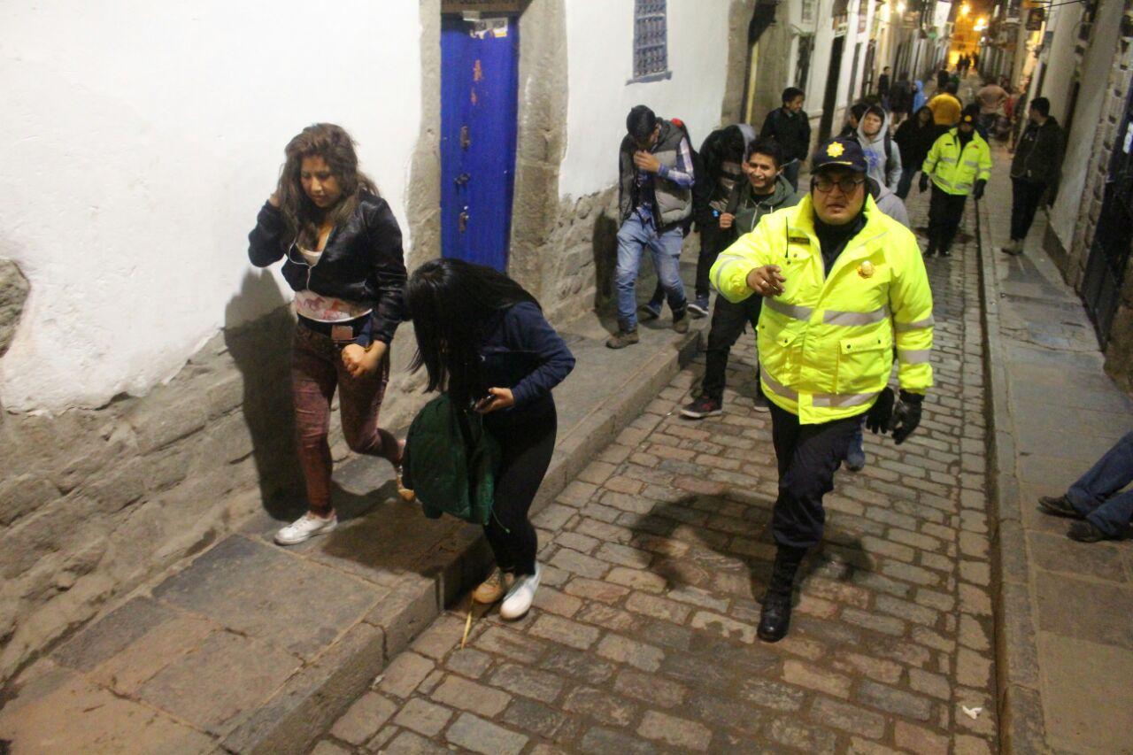 OPERATIVOS DE FISCALIZACIÓN   DE DISCOTECAS EN EL CENTRO HISTÓRICO DEL CUSCO