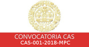 Convocatorias CAS-001-2018-MPC