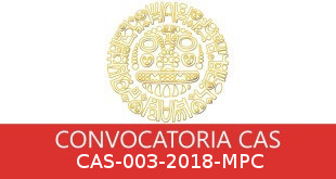 Convocatorias CAS-003-2018-MPC