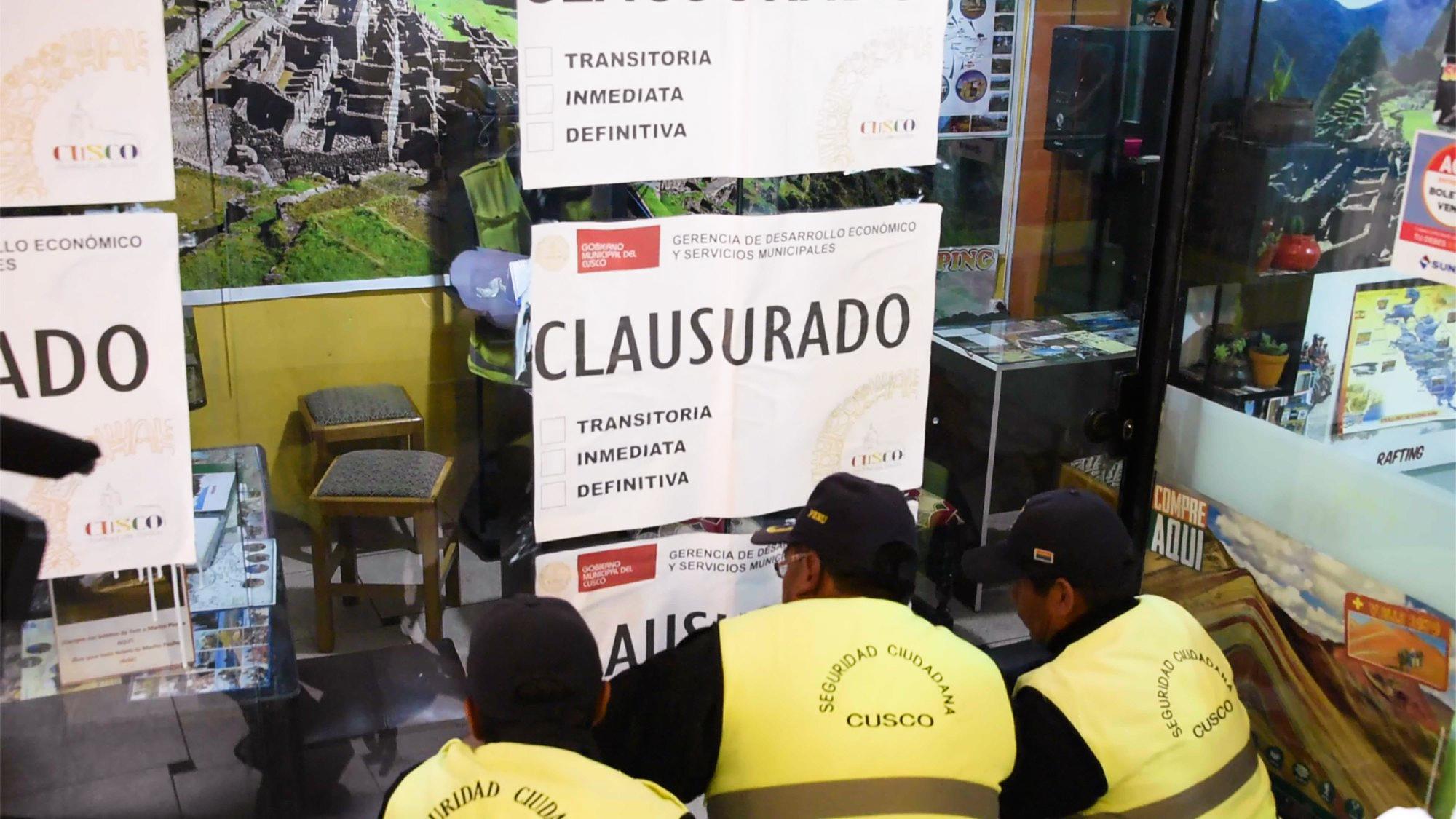 AGENCIAS DE TURISMO INFORMALES EN CUSCO CON LOS DÍAS CONTADOS CONTINUARÁN LOS OPERATIVOS INOPINADOS.