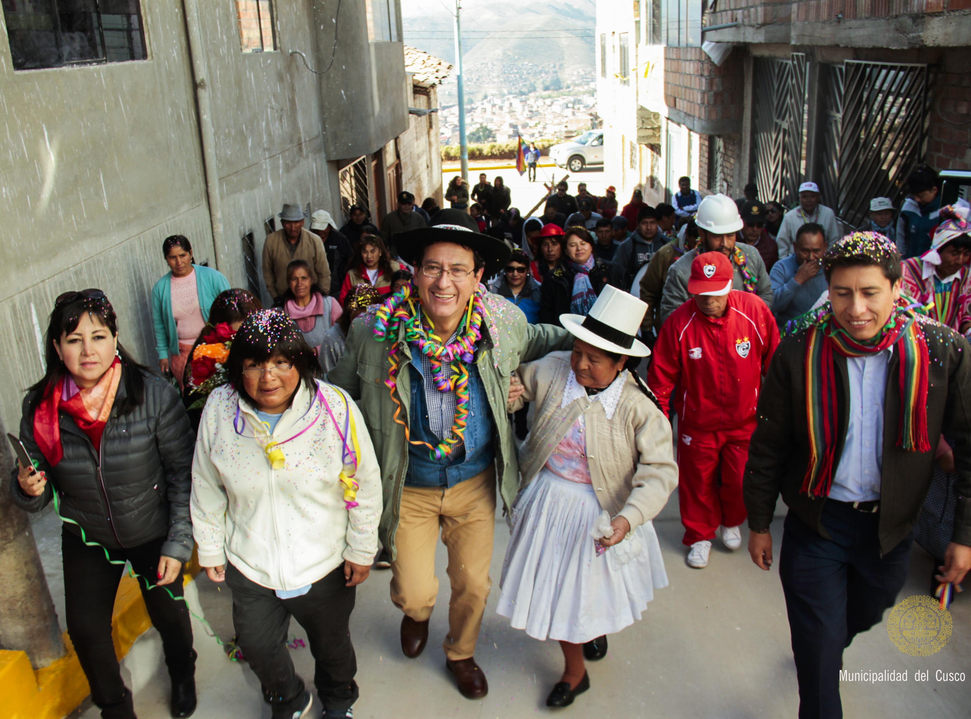NUEVAS PISTAS Y VEREDAS EN EL PUEBLO JOVEN  VILLA MARÍA EN EL DISTRITO Y PROVINCIA DEL CUSCO