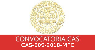 Convocatorias CAS-009-2018-MPC