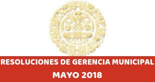 Resoluciones – Mayo 2018