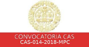 Convocatorias CAS-014-2018-MPC