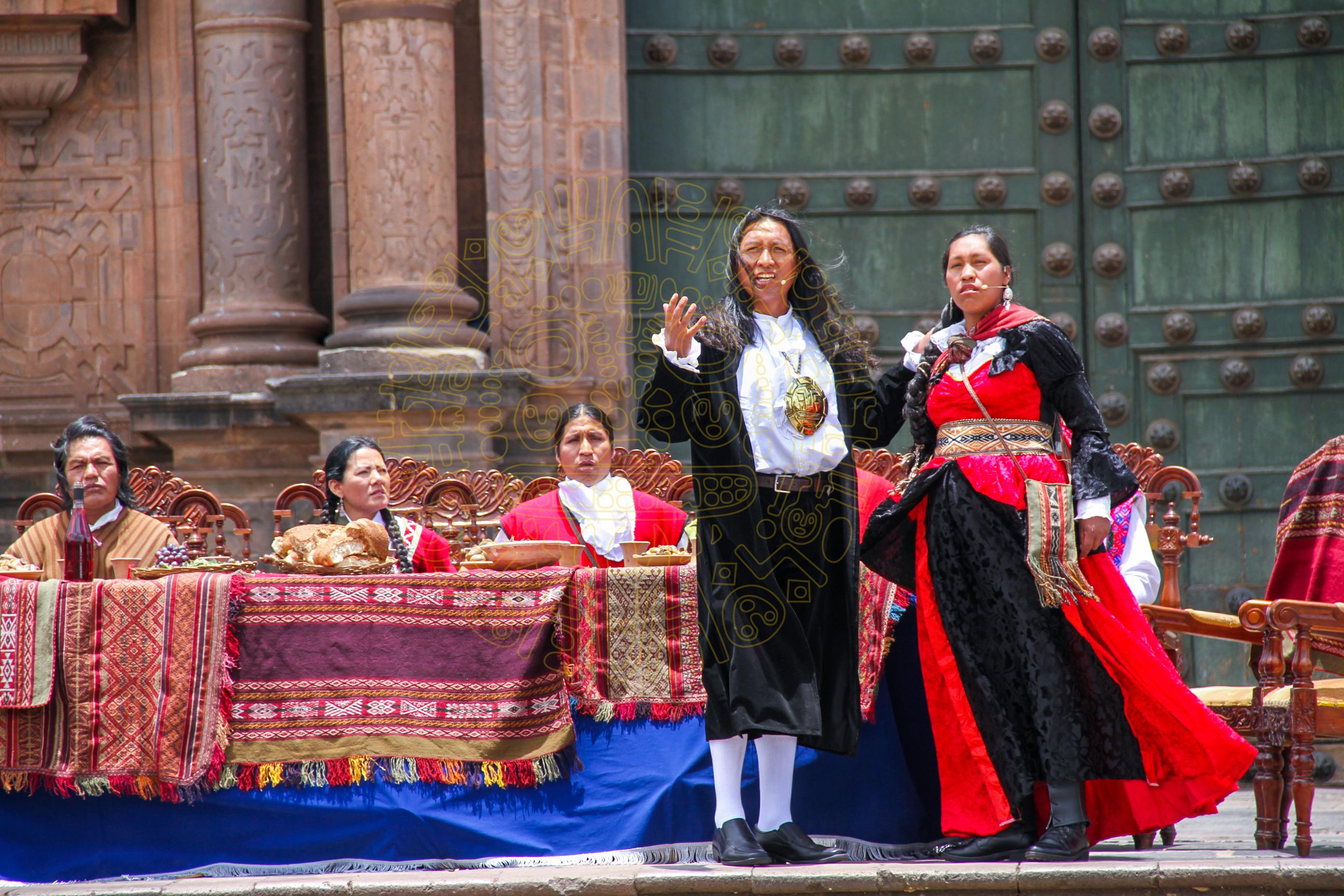 HOMENAJE AL SACRIFICIO DE JOSÉ  GABRIEL  CONDORCANQUI  O  TÚPAC AMARU II  POR LA MUNICIPALIDAD DEL CUSCO
